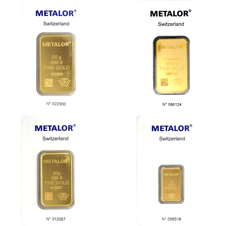 Metalor Gold Bar Bundle