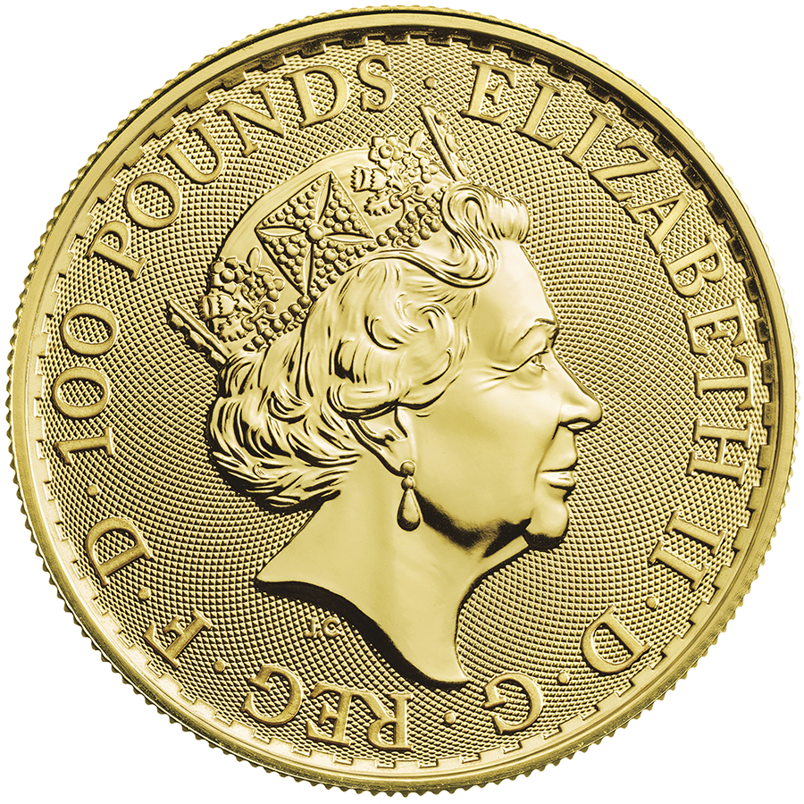 2021 UK Britannia 1oz Gold Coin - Monster Box of 100 Coins (Image 3)