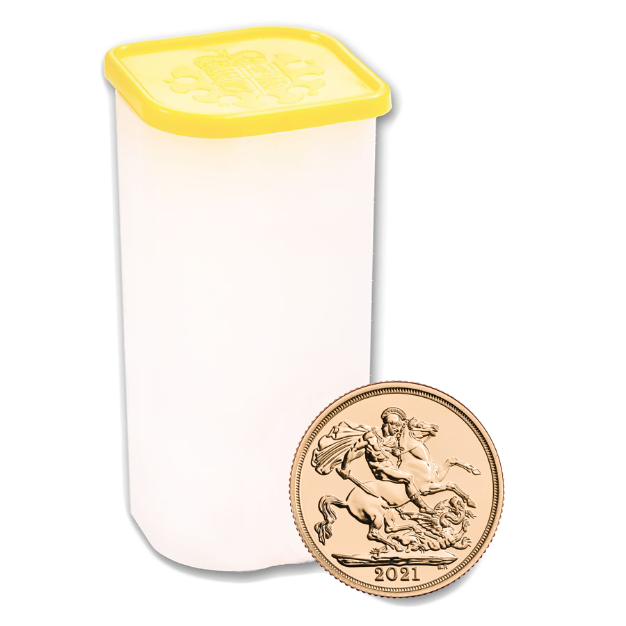 2021 UK Full Sovereign Gold Coins - Full Tube of 25 Coins