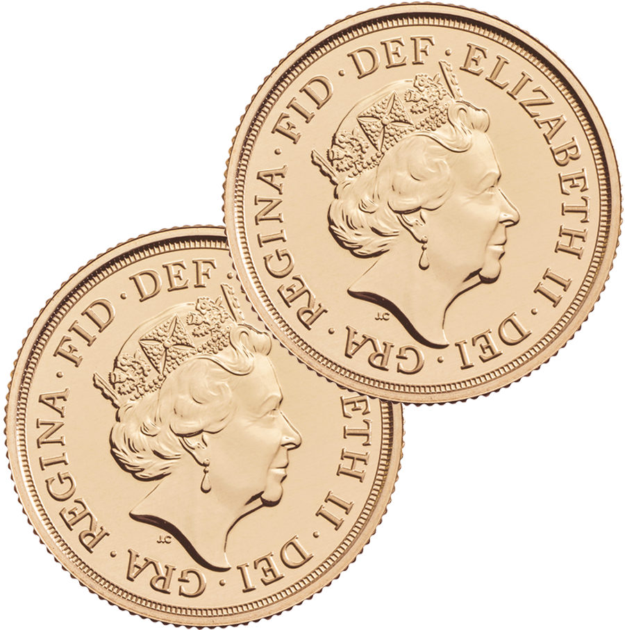 2021 UK Full Sovereign Gold 2 Coin Bullion Bundle (Image 2)