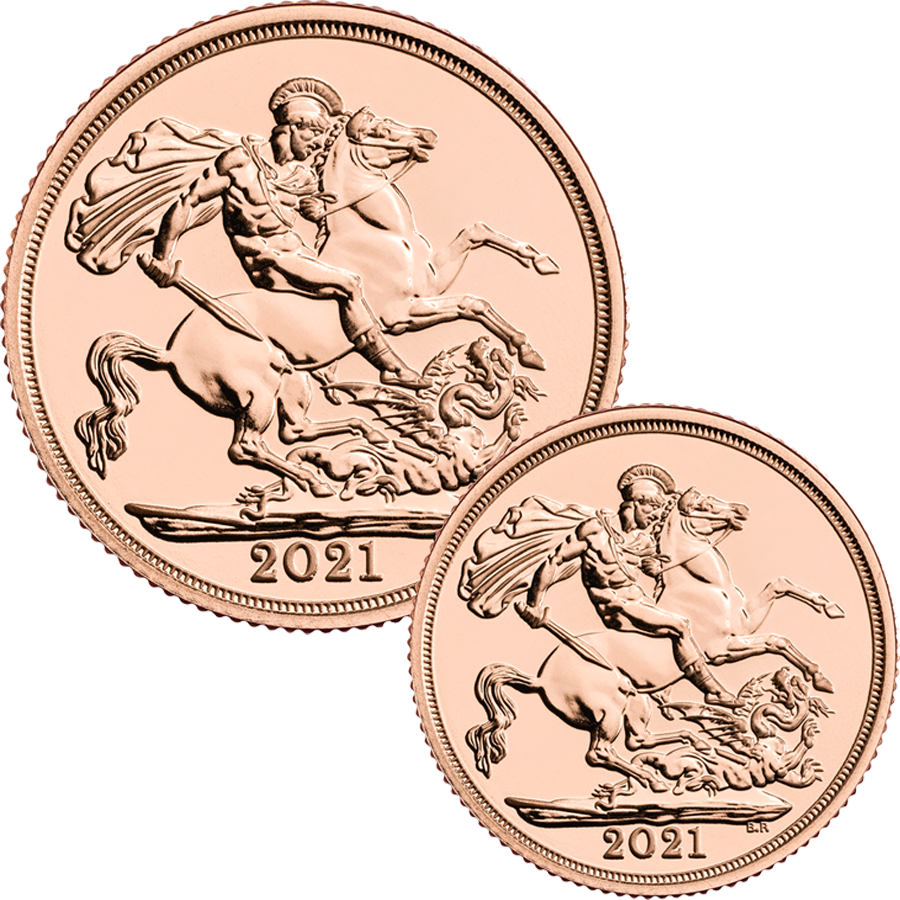 2021 UK Full Sovereign & Half Sovereign Gold Coin Collection