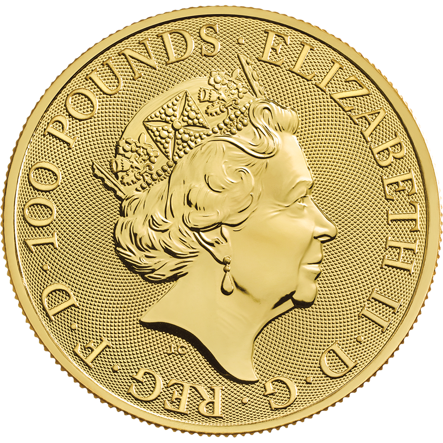 2021 UK Queen's Beasts Completer 1oz Gold Coin - Full Tube of 10 Coins (Image 3)