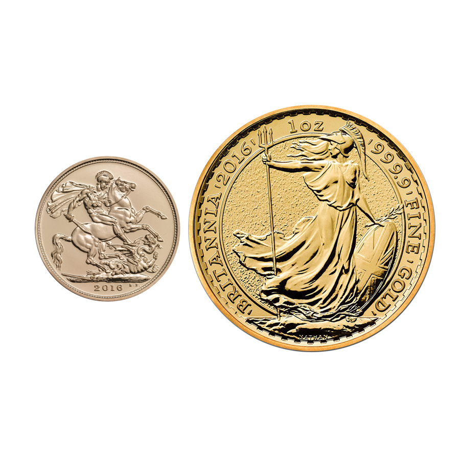 2016 UK Full Sovereign & 2016 Britannia 1oz Gold Collection