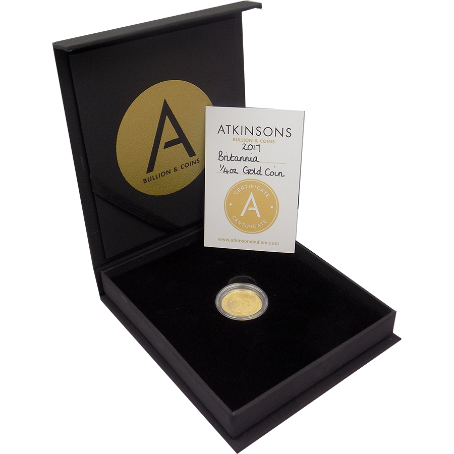 2017 UK Britannia 1/4oz Gold Coin with Gift Box & Certificate