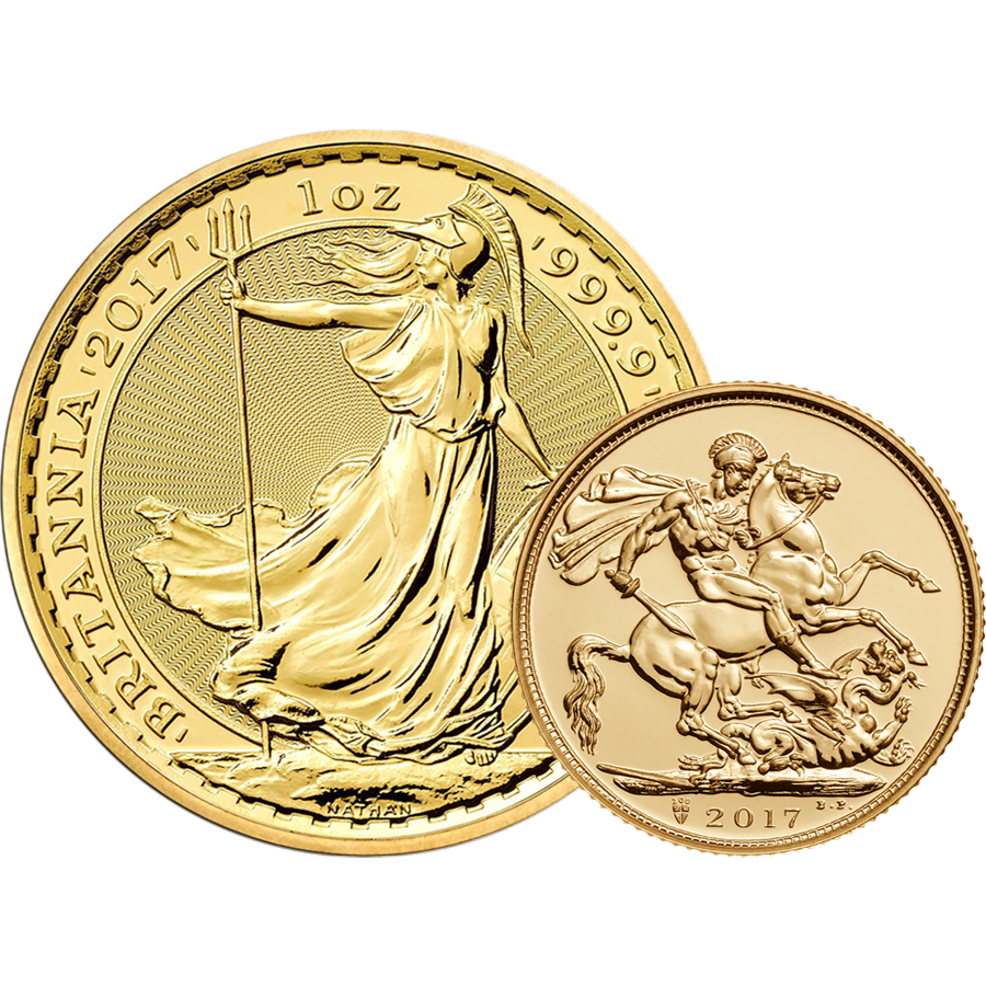 2017 UK Full Sovereign & 2017 Britannia 1oz Gold Collection