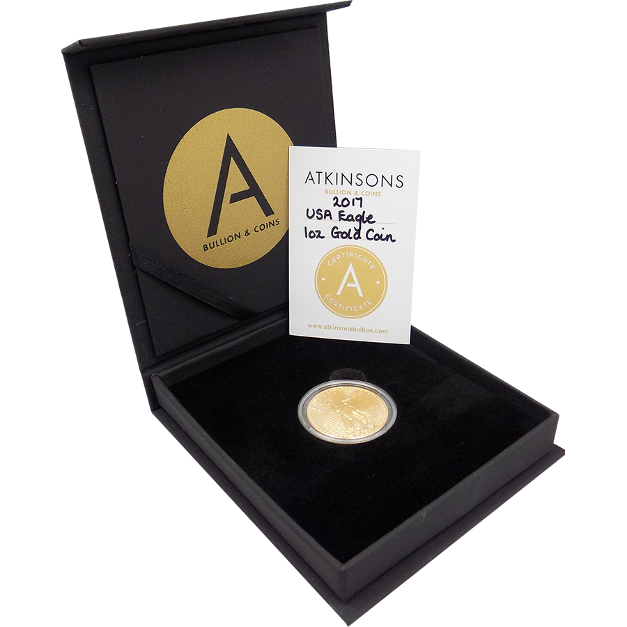 2017 USA Eagle 1oz Gold Coin with Gift Box & Certificate