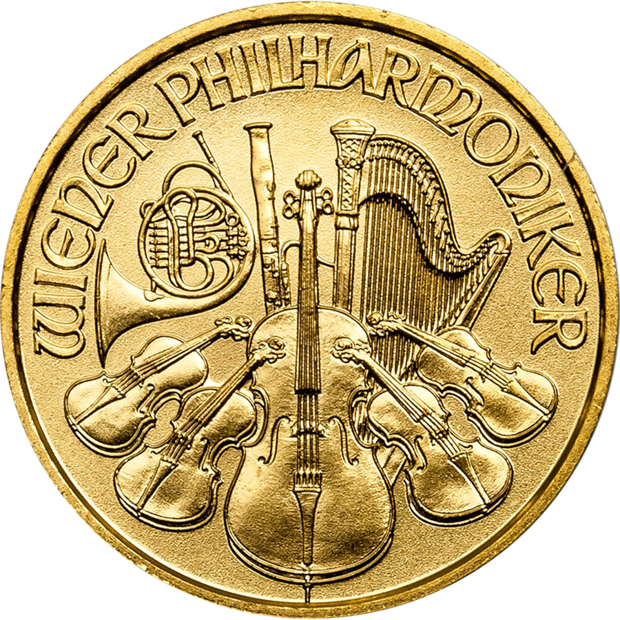 2017 Austrian Philharmonic 1/10oz Gold Coin