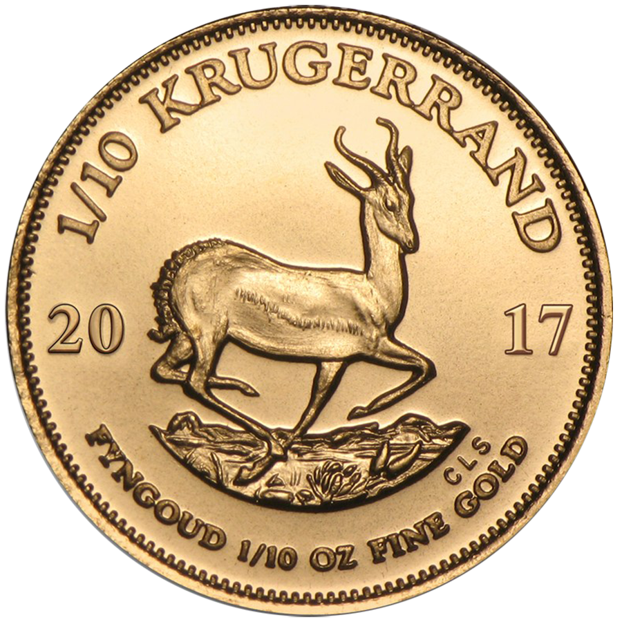 2017 South African Krugerrand 1/10oz Gold Coin