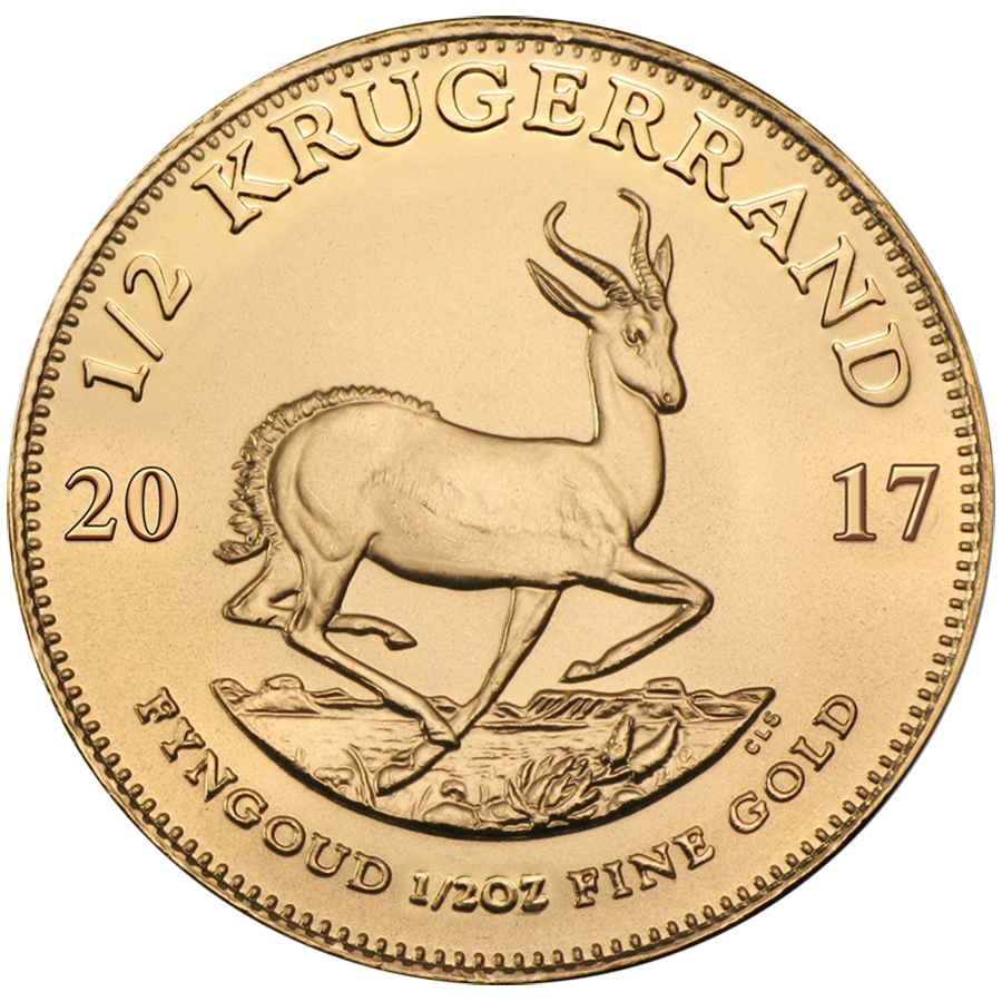 2017 South African Krugerrand 1/2oz Gold Coin