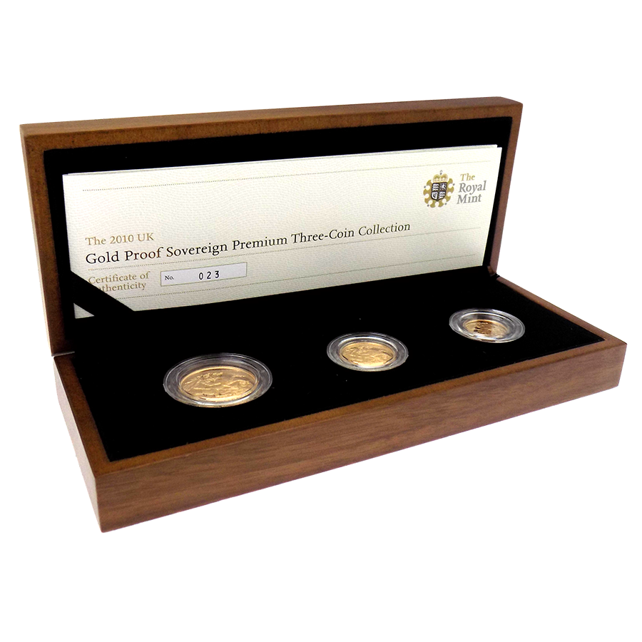Pre-Owned 2010 UK Proof Sovereign Gold Coin Set