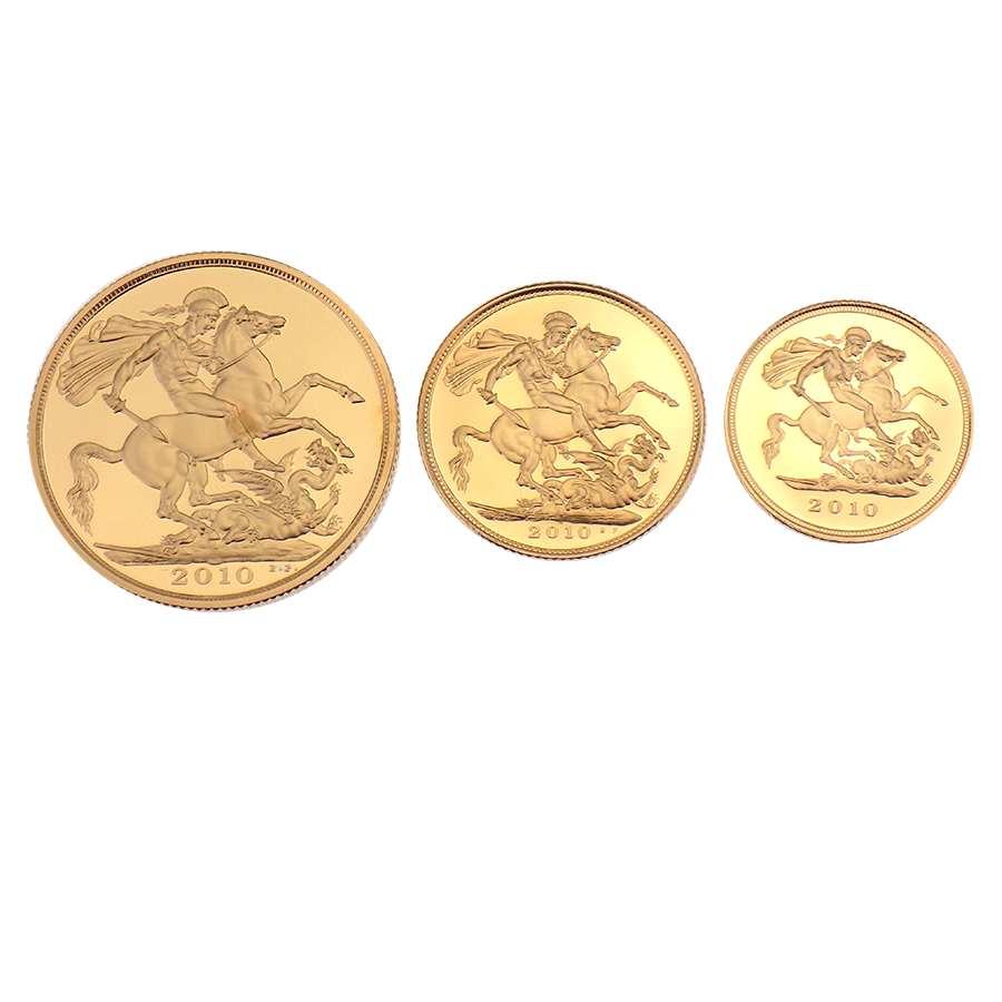 Pre-Owned 2010 UK Proof Sovereign Gold Coin Set (Image 2)