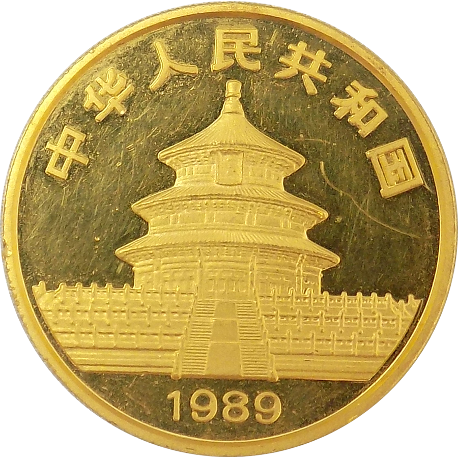 1989 Chinese Panda 1oz Gold Coin Free Insured Delivery