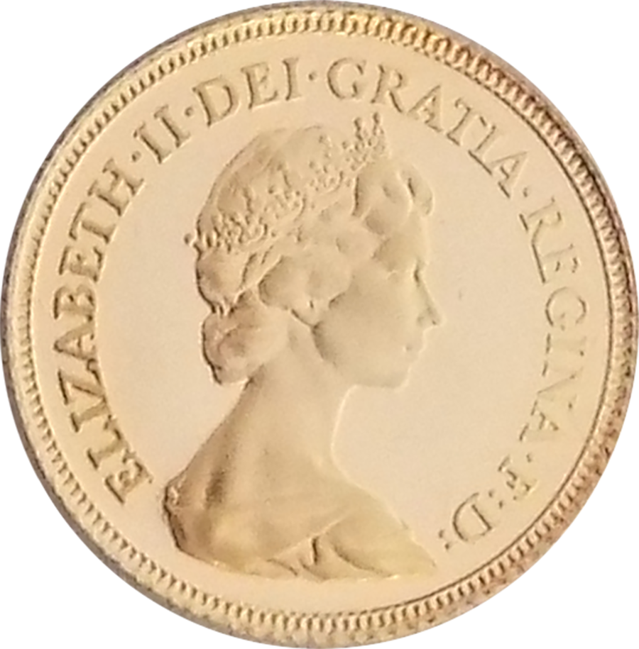 Pre-Owned 1982 UK Proof Design Half Sovereign Gold Coin