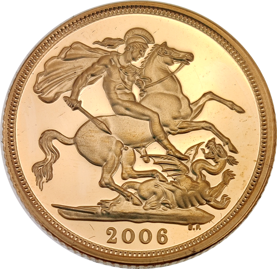 Pre-Owned 2006 UK Full Sovereign Proof Design Gold Coin