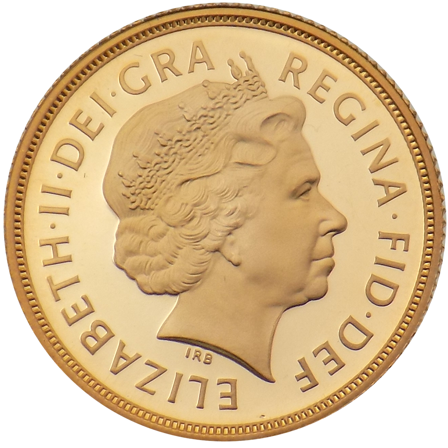 Pre-Owned 2005 UK Full Sovereign Proof Design Gold Coin