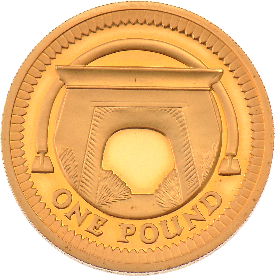 Pre-Owned 2006 UK £1 Proof Design Gold Coin