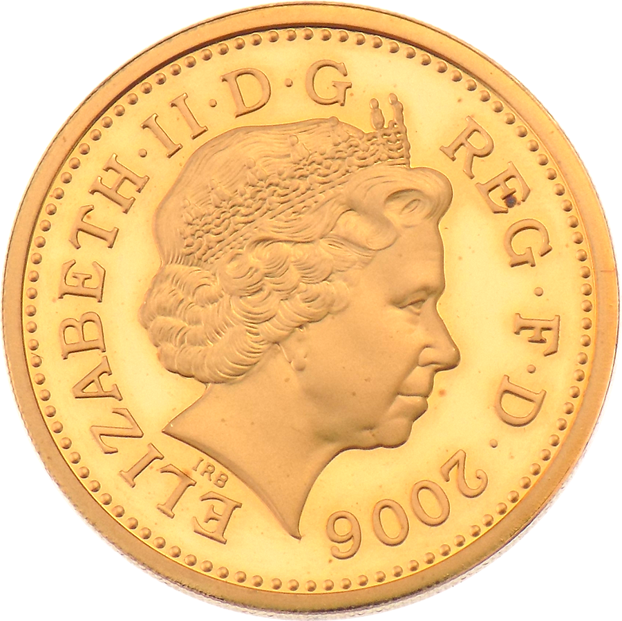 Pre-Owned 2006 UK £1 Proof Design Gold Coin (Image 2)