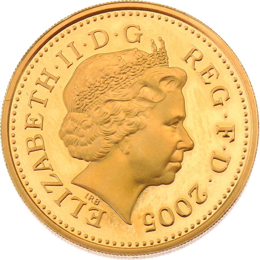 Pre-Owned 2005 UK £1 Proof Design Gold Coin (Image 2)