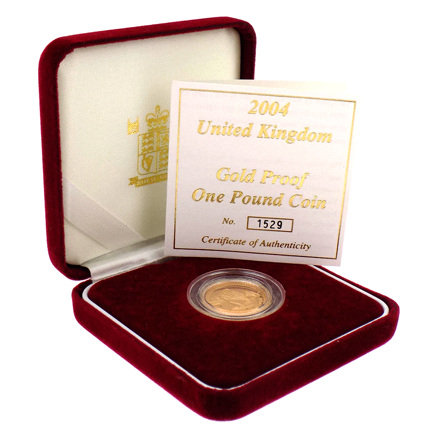 Pre-Owned 2004 UK £1 Proof Gold Coin