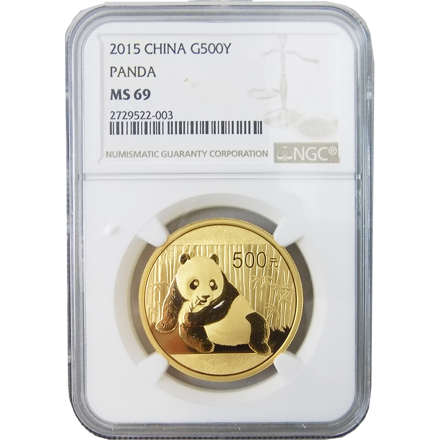 Pre-Owned 2015 Chinese Panda 500Y Gold Coin NGC Graded MS 69 - 2729522-003