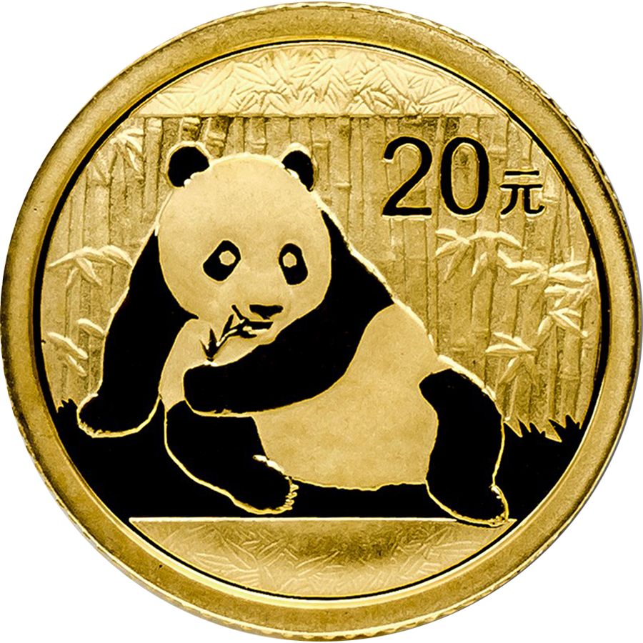 Pre-Owned Chinese Panda 1/20oz Gold Coin - Mixed Dates