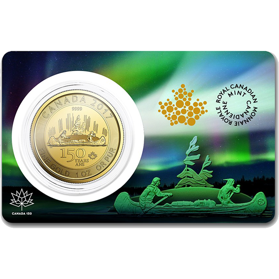 2017 Canadian 150th Anniversary Voyageur 1oz Gold Coin