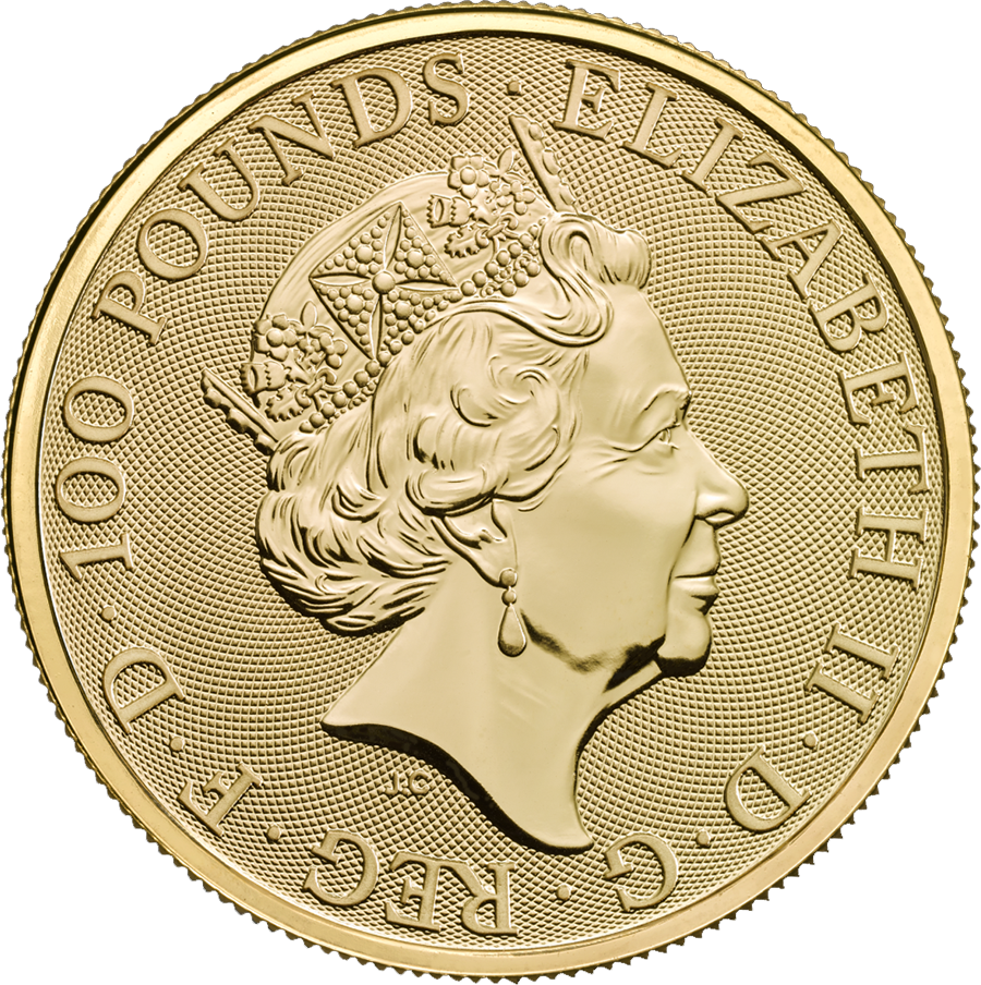 2018 UK Queen's Beasts The Unicorn 1oz Gold Coin (Image 2)