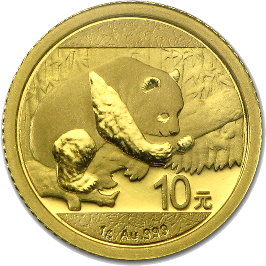 Pre-Owned 2016 Chinese Panda 1g Gold Coin
