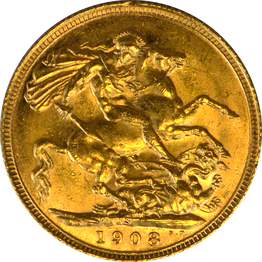 1908 Sydney Mint Edward Vii Full Sovereign Gold Coin