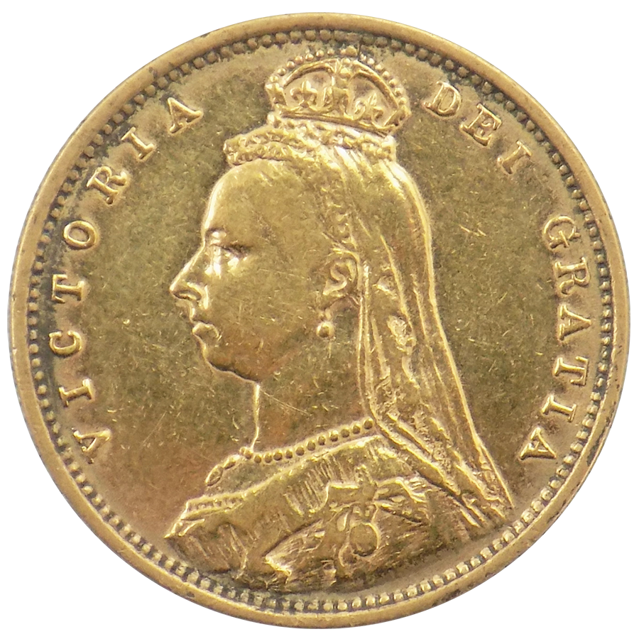 Pre-Owned UK Victorian Jubilee 'Shield' Half Sovereign Gold Coin - Mixed Dates