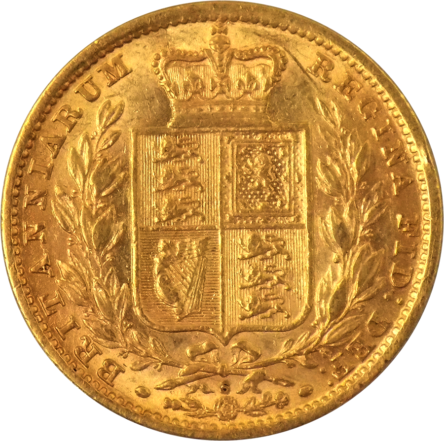 1881 Sydney Mint Victorian Shield Full Sovereign Gold Coin