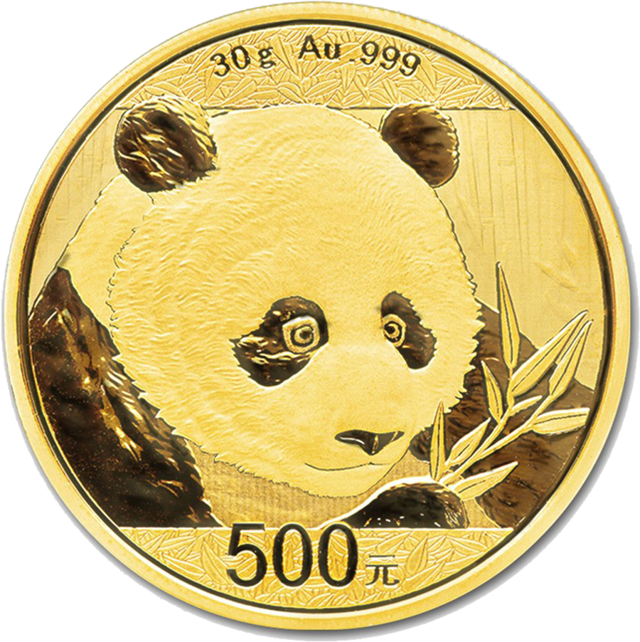 2018 Chinese Panda 30g Gold Coin