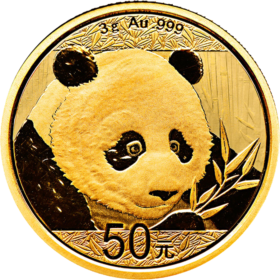 2018 Chinese Panda 3g Gold Coin