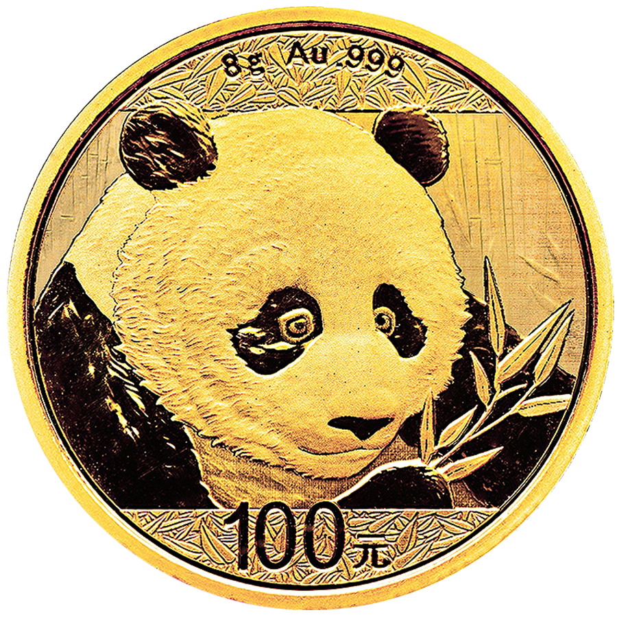 2018 Chinese Panda 8g Gold Coin