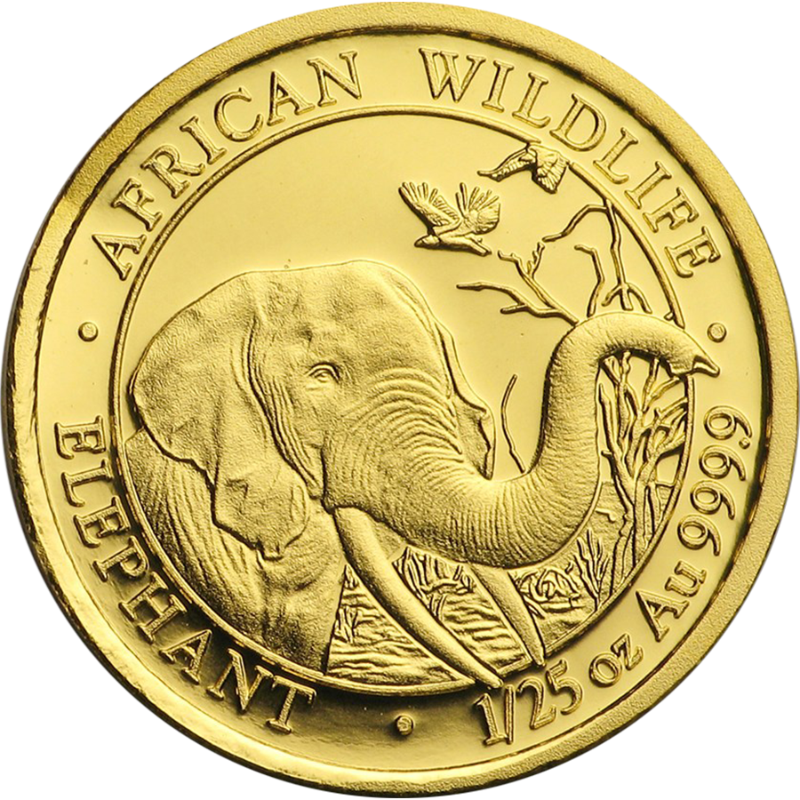 2018 Somalian Elephant 1/25oz Gold Coin