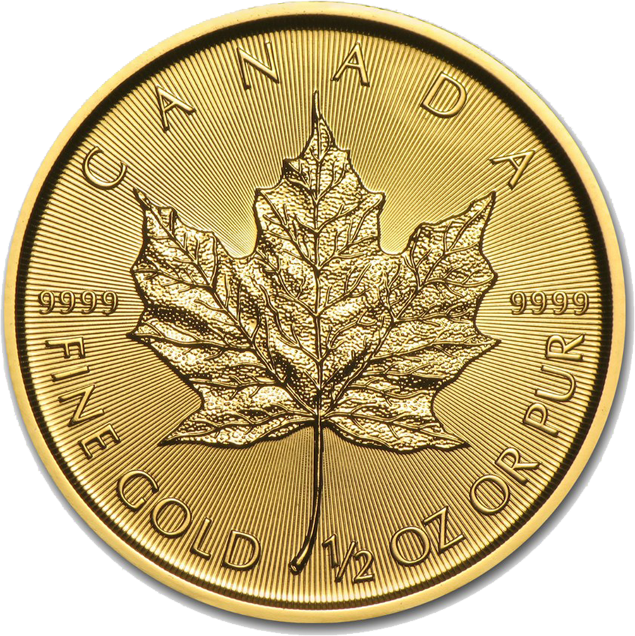 2018 Canadian Maple 1/2oz Gold Coin