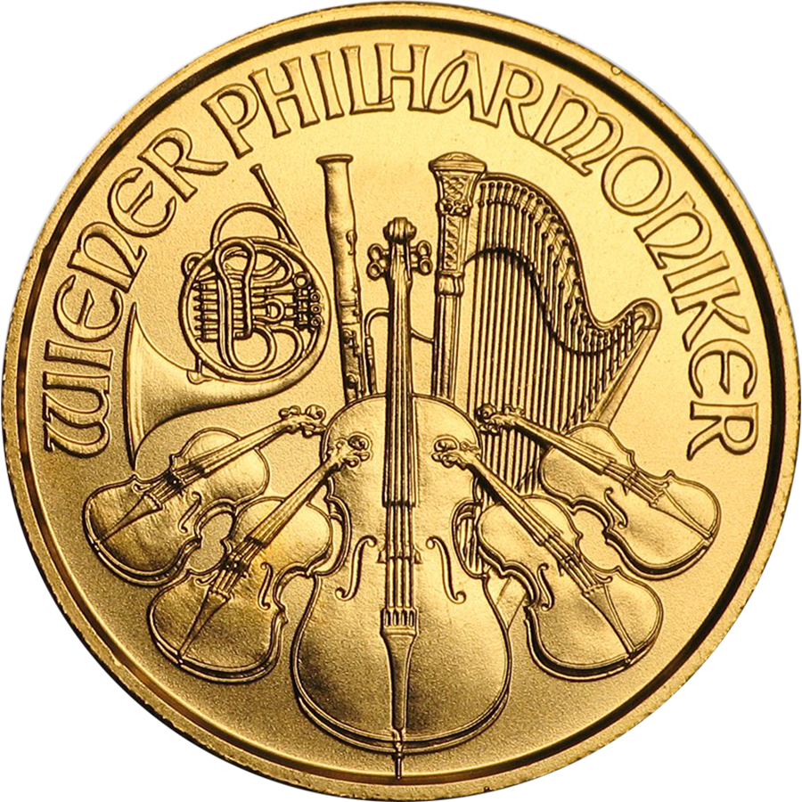 2018 Austrian Philharmonic 1/25oz Gold Coin