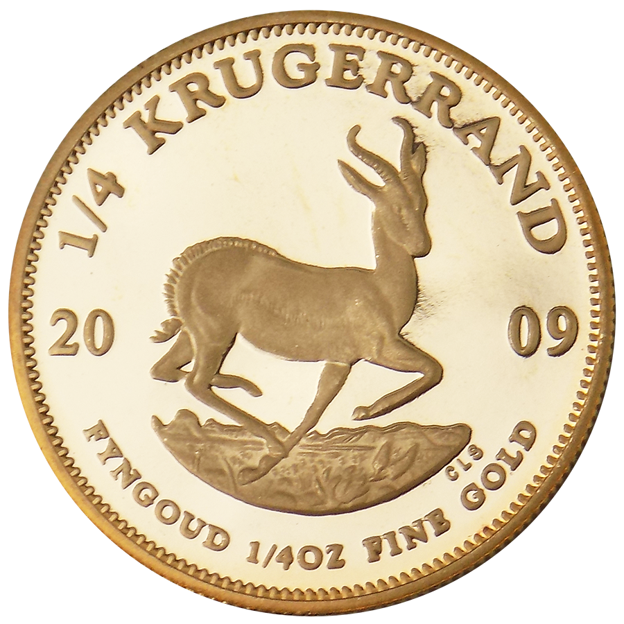 Pre-Owned 2009 South African Proof Design Krugerrand 1/4oz Gold Coin