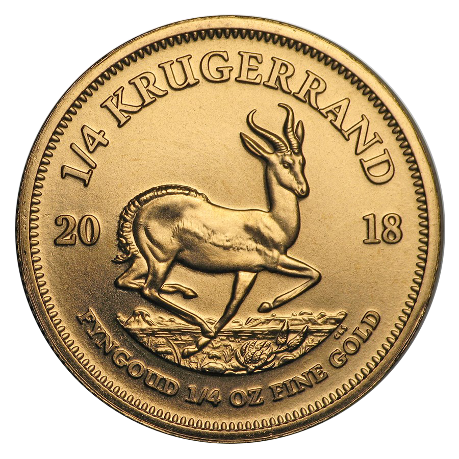 2018 South African Krugerrand 1/4oz Gold Coin