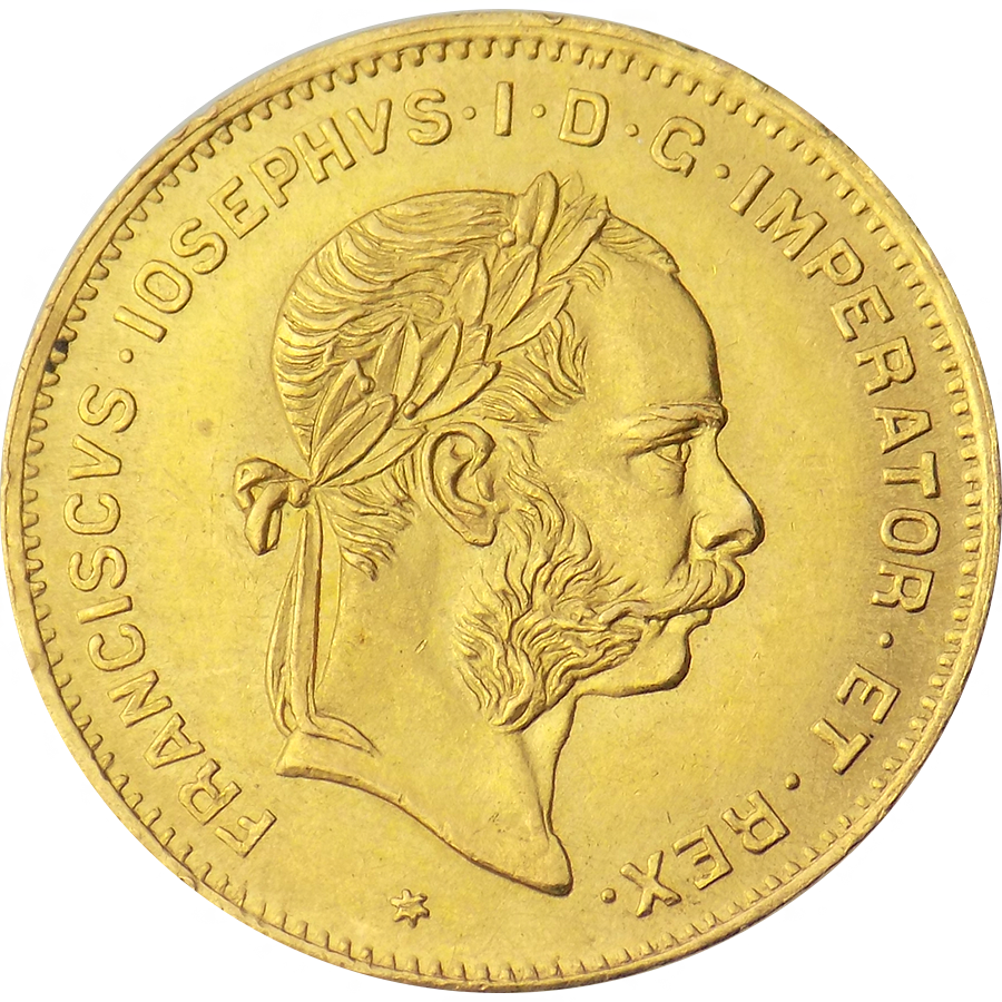 Pre-Owned 1892 Austrian 10 Franc Gold Coin