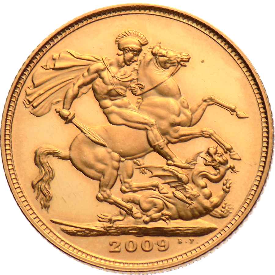 Pre-Owned 2009 UK Proof Design Full Sovereign Gold Coin (Image 2)