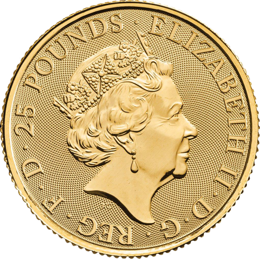 2018 UK Queen's Beasts The Black Bull of Clarence 1/4oz Gold Coin (Image 2)