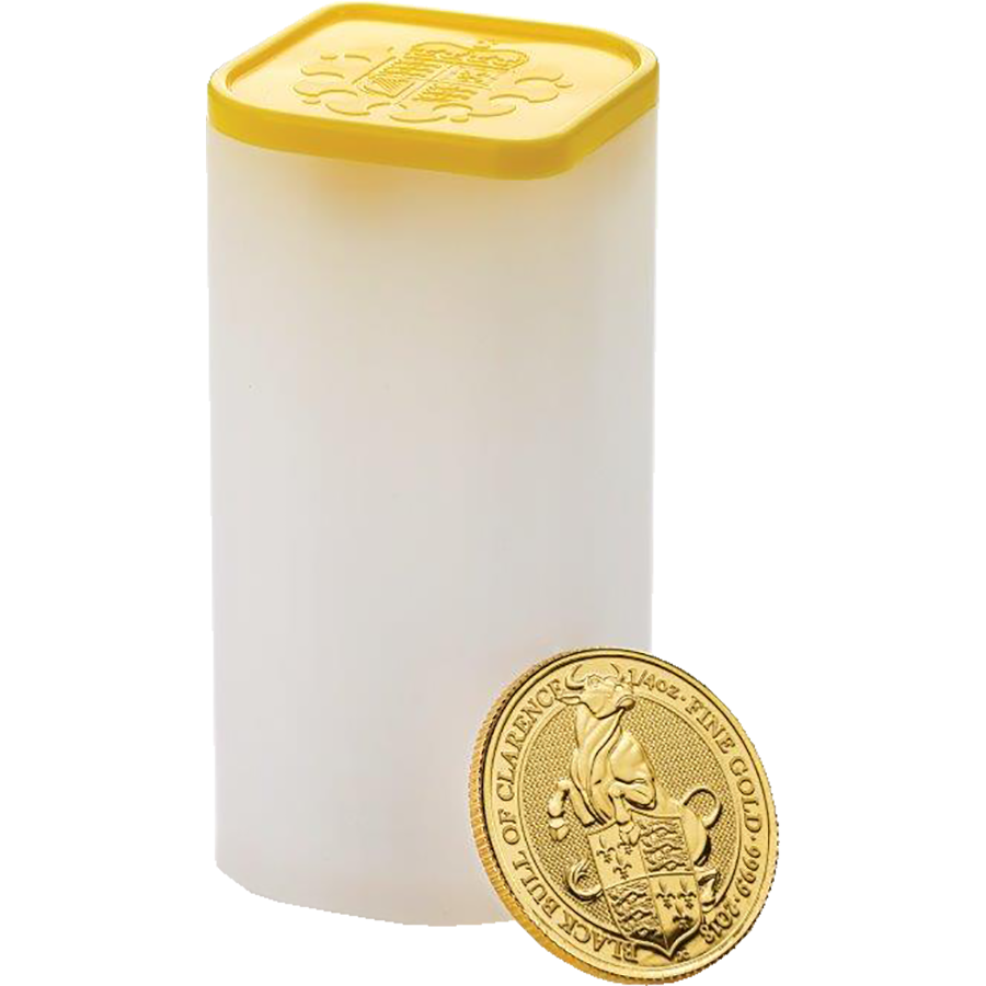 2018 UK Queen's Beasts The Black Bull of Clarence 1/4oz Gold Coin (Image 3)