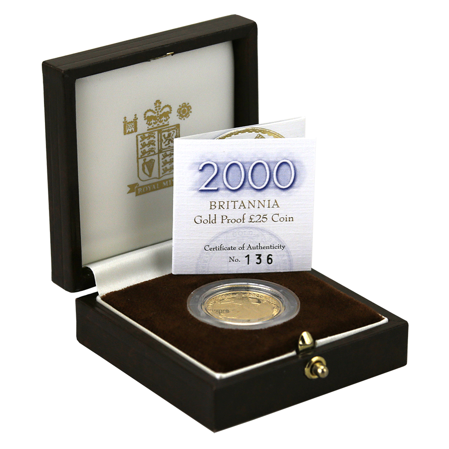 Pre-Owned 2000 UK Britannia 1/4oz Proof Gold Coin