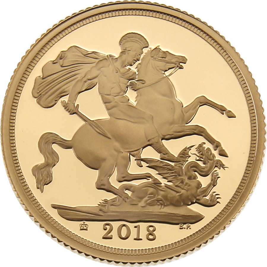 Pre-Owned 2018 UK Proof Full Sovereign Gold Coin (Image 2)