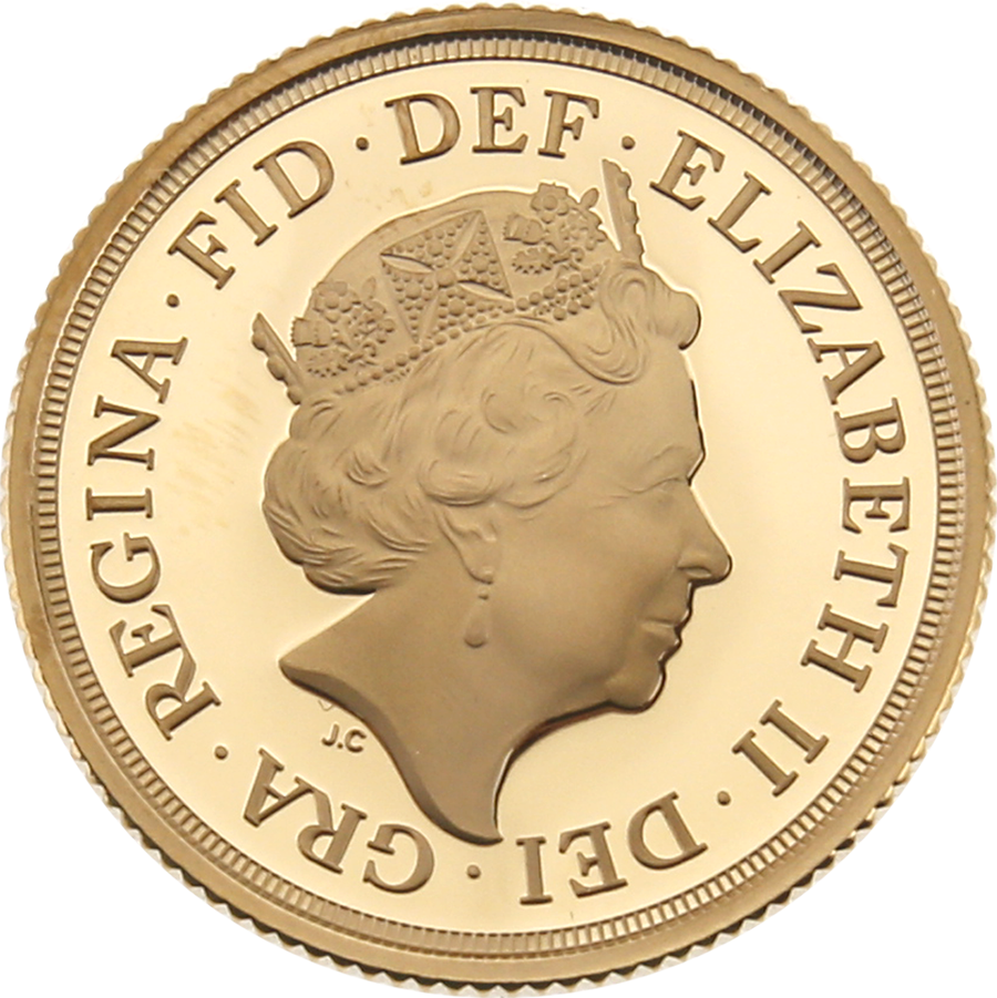 Pre-Owned 2018 UK Proof Full Sovereign Gold Coin (Image 3)