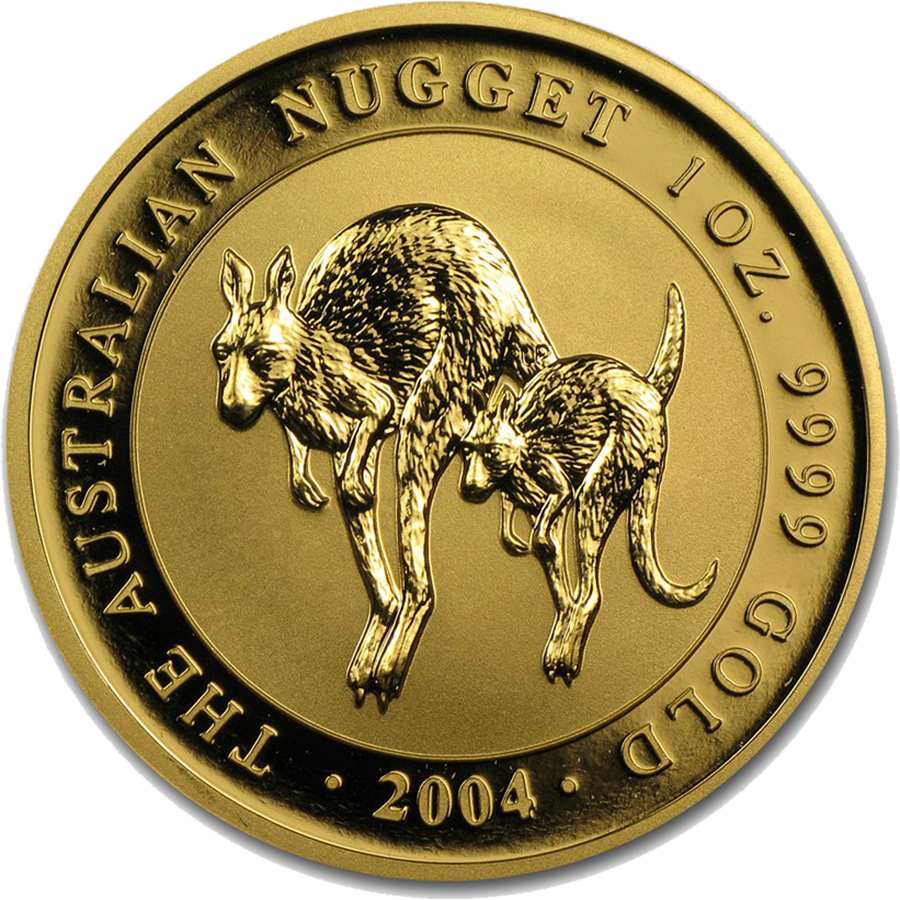 Pre-Owned 2004 Australian Nugget 1oz Gold Coin