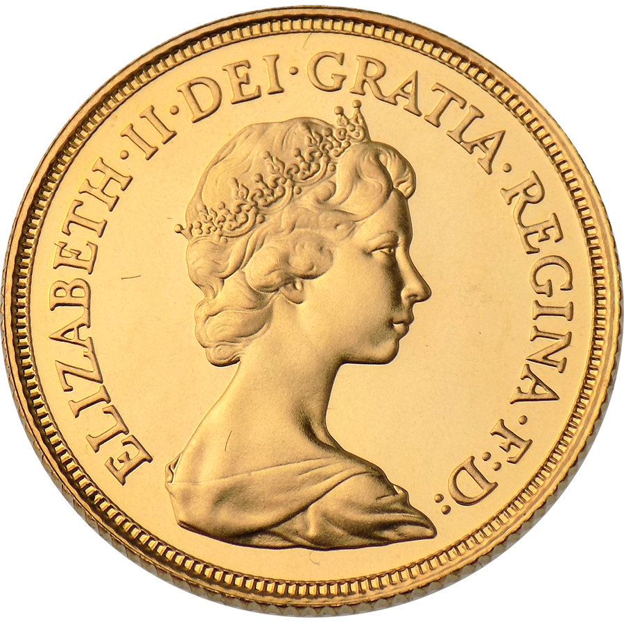 Pre-Owned 1981 UK Elizabeth II Full Sovereign Gold Coin (Image 1)
