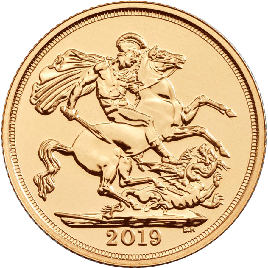 2019 UK Half Sovereign Gold Coin