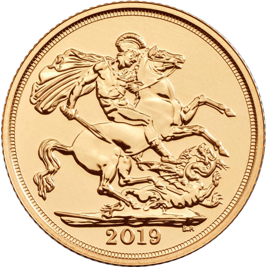 2019 UK Full Sovereign Gold Coin (Image 1)